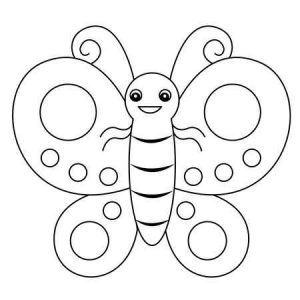 dibujos para colorear mariposas